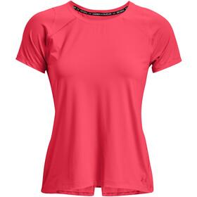 Under Armour Isochill Run 200 Short Sleeve Shirt Women, rood